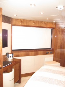 Yacht Roller Shade with Side Tracks