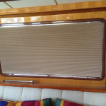 yacht window treatment, yacht window covering, ocean alexander bridge shade