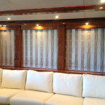 Sunseeker yacht shade, Sunseeker window treatments, Sunseeker automated shades, Sunseeker motorized shades