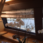 Ferretti yachts, Ferretti window treatments, yacht window treatments, marine blinds