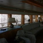 Electric Shade, electric yacht shade, motorized yacht shade, automated yacht blind