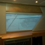 65' Hatteras custom shades, 65' Hatteras custom blinds, Hatteras yachts, Hatteras window treatments