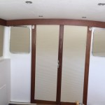 35' Troller window covering, boat blinds and shades, yacht blinds, boat blinds, blackout boat blinds