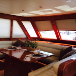 Electric marine window treatments