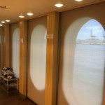 Marine window treatment, boat blinds and shades, yacht window treatment, yacht curtain