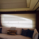 yacht curtain, yacht blind, yacht window treatment, Aziumt shades, Azimut blinds, Azimut window covering, Azimut curtain
