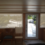 electric battery operated yacht shade, battery operated boat blinds, battery operated yacht curtains, boat blinds and shades, electric yacht window treatments