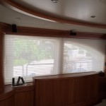 Azimut yachts, Azimut curtains, Azimut yacht shade, boat blinds and shades, yacht window treatments, yacht window curtains, yacht window coverings, automated yacht curtains,