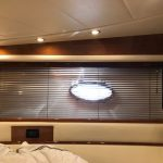"custom 1' venetian boat blinds, 1"" wood boat blinds, wood boat curtains, pershing yachts"