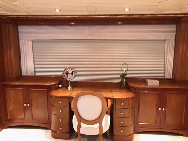 yacht window treatment, boat blinds, yacht curtains, yacht window covering, boat curtains, boat window coverings